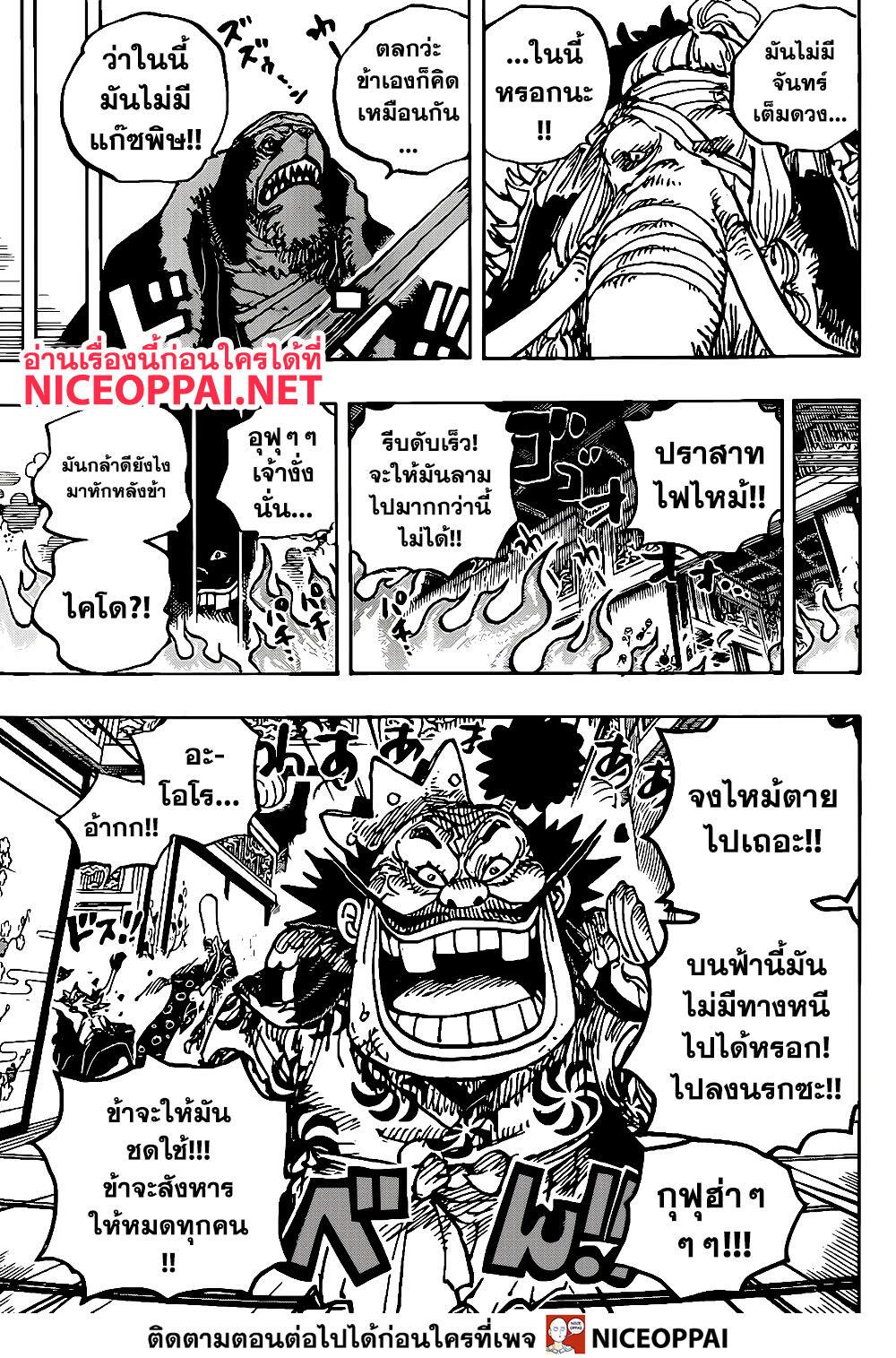 อ่านการ์ตูน One Piece ตอนที่ 1008 หน้าที่ 13