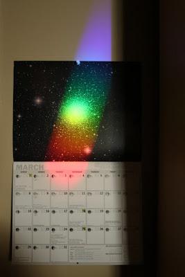 spectrum on wall calendar