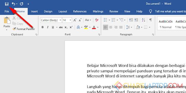 Menyimpan Dokumen Baru