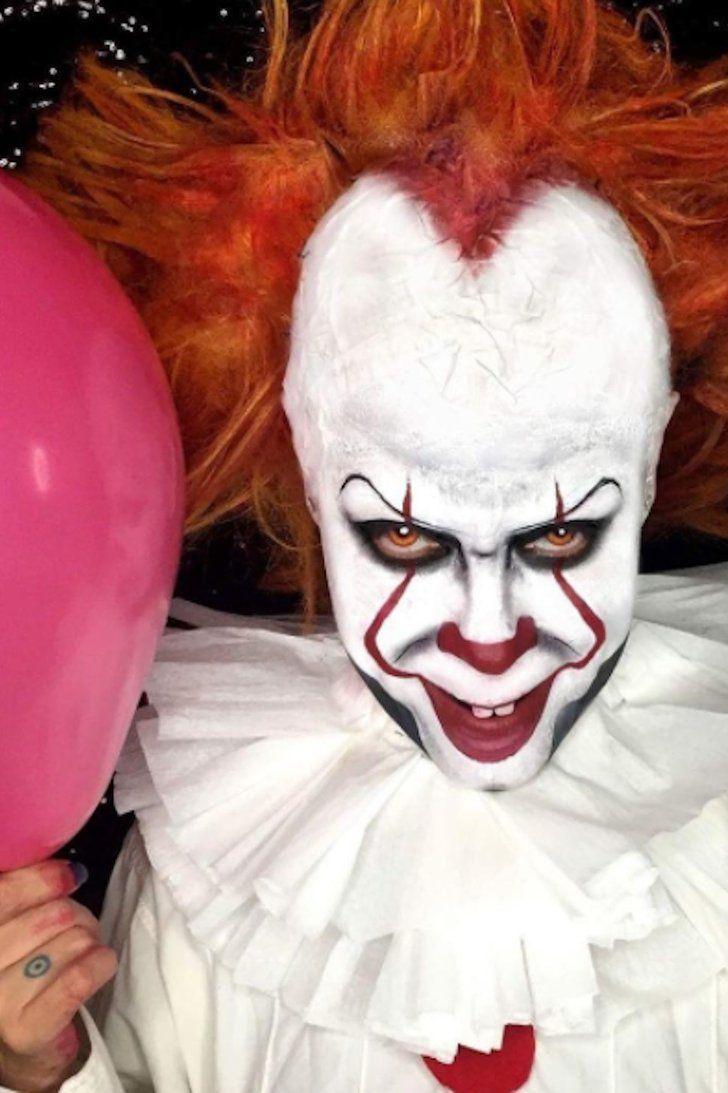 maquiagem para halloween masculina palhaco