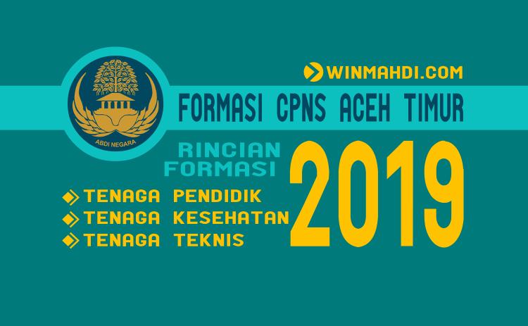 Formasi CPNS Aceh Timur 2019