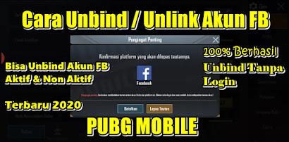 Cara Unbind Akun Facebook PUBG Mobile Terbaru 100% Berhasil