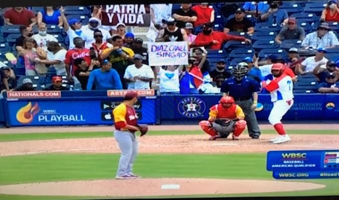 Los peloteros cubanos agradecen el apoyo de la disidencia de Miami a pesar de la derrota en el Preolímpico de béisbol