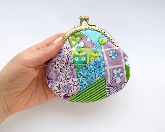 кошелек из лоскутов, Patchwork purse,