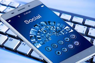 photo illustration of social media on mobile phone
