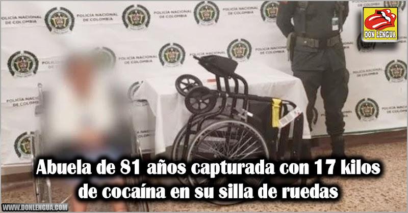 Abuela de 81 años capturada con 17 kilos de cocaína en su silla de ruedas