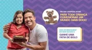 Promoção Sodiê Doces Dia das Crianças 2019 Ganhe Fatia de Bolo Doando um Brinquedo