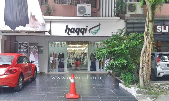 Beli Baju Raya di Butik  Haqqi TTDI Kuala Lumpur