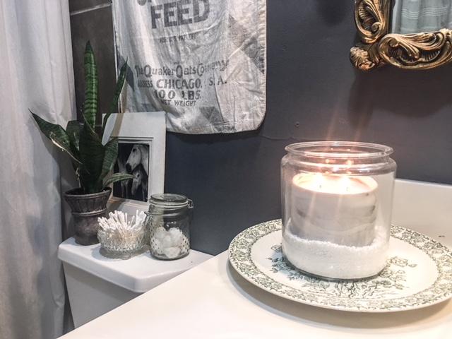 candle jar with epsom salt