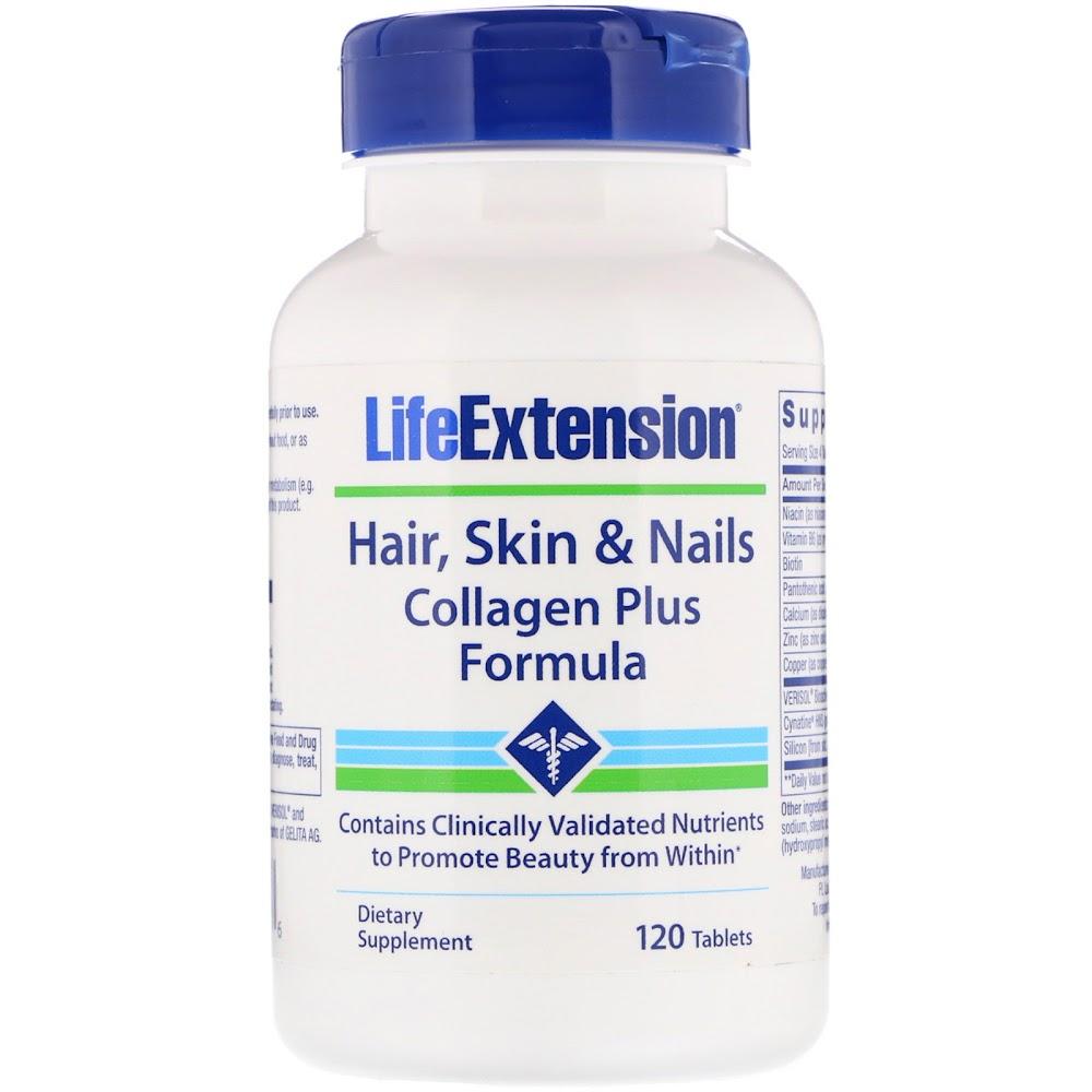 Life Extension, Формула омоложения волос, кожи и ногтей от VERISOL, 120 таблеток