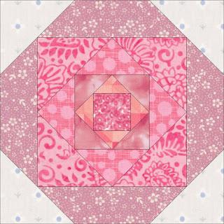 pink quilt block