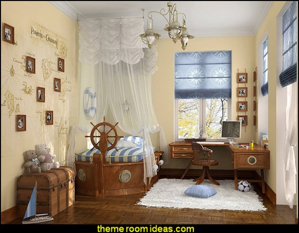 Nautical Bedroom decorating theme bedrooms - maries manor: nautical bedroom ideas