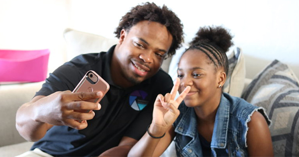Jay'Aina Patton and her father