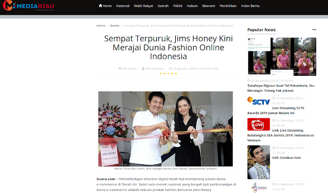 Sempat Terpuruk, Jims Honey Kini Merajai Dunia Fashion Online Indonesia