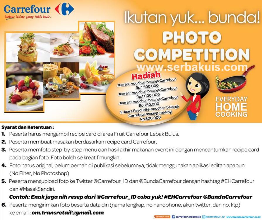 Kontes Foto Memasak Berhadiah Voucher Belanja Total Rp 4.250.000