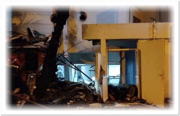 بالصور.. انفجار يهز مصحة خاصة بالبيضاء
