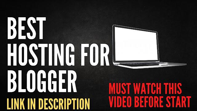 best hosting for blogger or company website