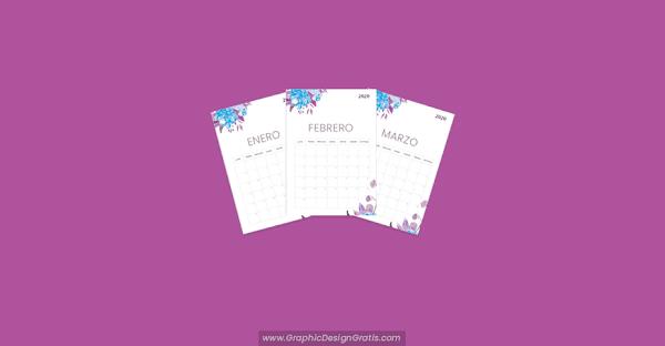 Calendario 2020 para Imprimir en PDF gratis 【 Mensual 】