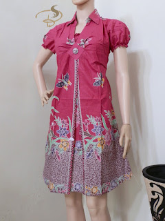 Dress Batik Rama Kupu Pink