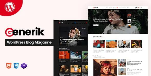 Best Multipurpose WordPress Blog Magazine Theme