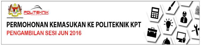 Permohonan Politeknik Jun 2016 Online