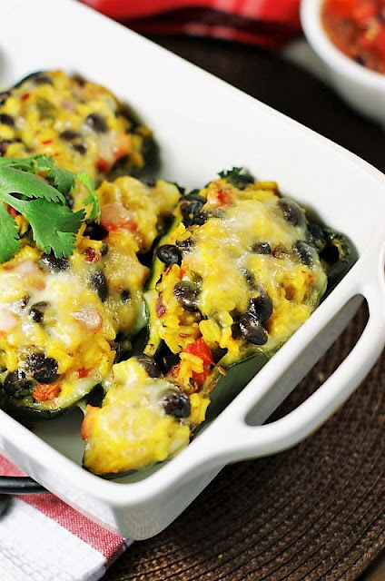 Stuffed Poblano Peppers with Rice and Black Beans Image