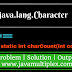 Example | java.lang package | Character class | charCount() method