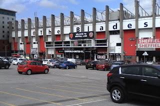 Main entrance to Bramall Lane, home of Sheffield United