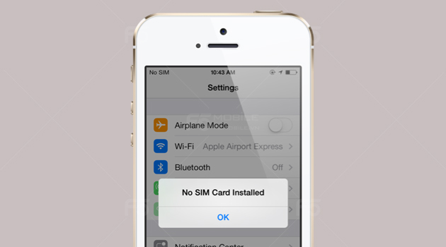 Những lý do khiến iPhone không nhận sim 1