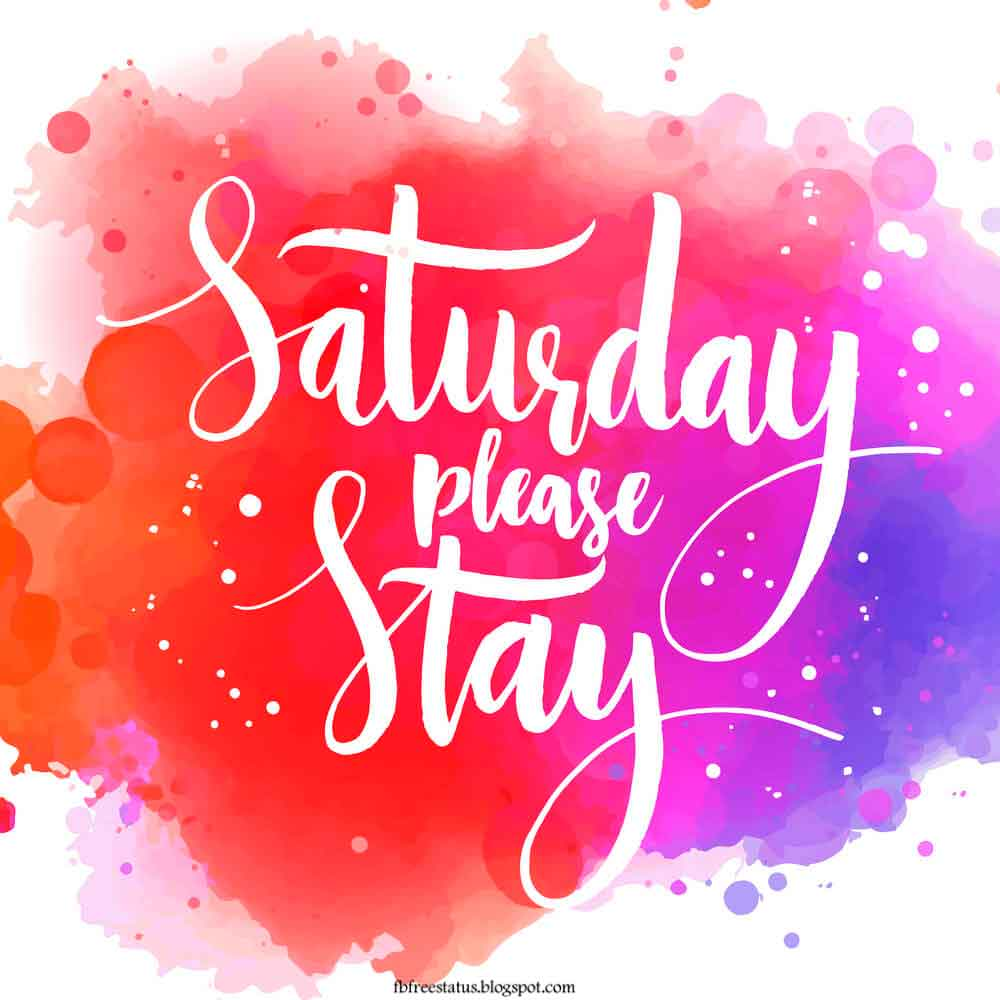 Saturday Please stay.