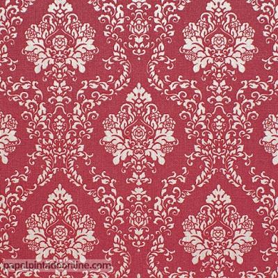 Papel Pintado Vintage Rojo Burdeos Granate 5972-06