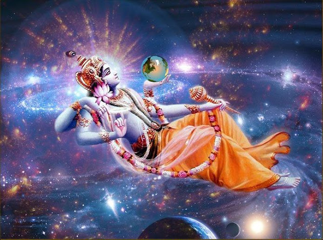 Lord Vishnu and Goddess Earth