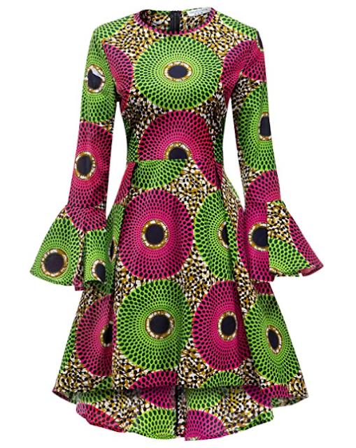 SHENBOLEN African print ankara dress