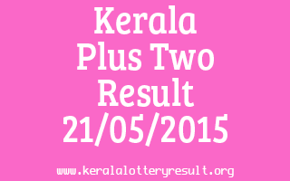 Kerala Plus Two Result 21-05-2015