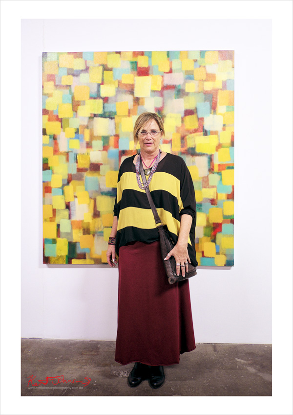 Artist's portrait - Deborah Young - Factory 49. Photographed by Kent Johnson