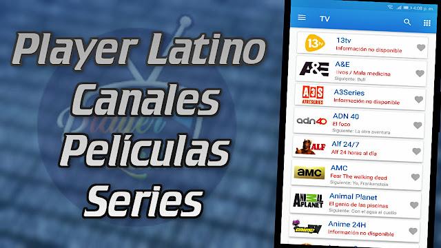 Player Latino canales películas y series