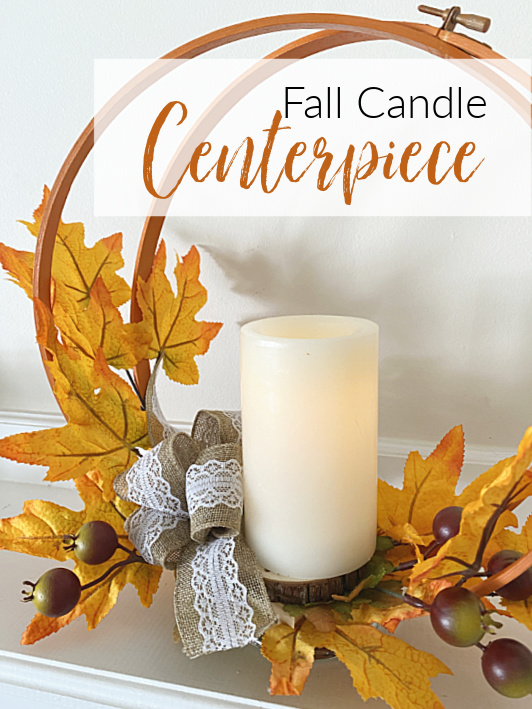 fall centerpiece with overlay pin
