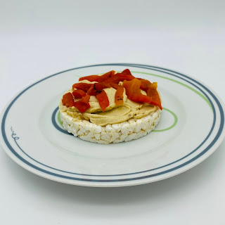 Hummus and Roasted Red Peppers Served Up on Vivente