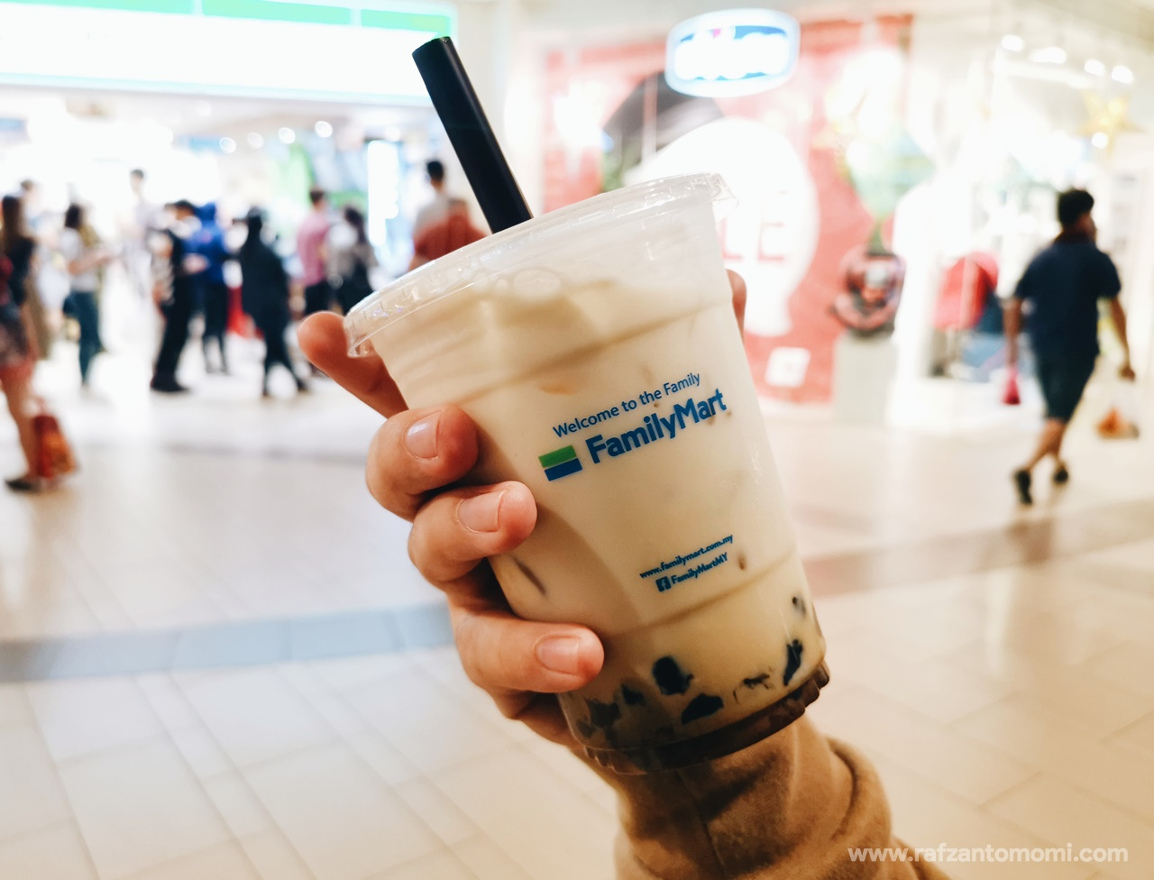 Bubble Brown Sugar Milk Family Mart - Cuba Try Test Tengok