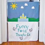 Pillowcase Puppet Theater step 2