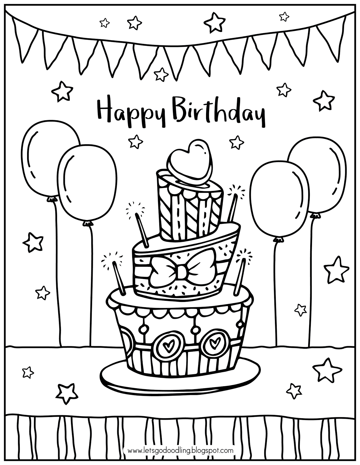 Peachy Free Printable Coloring Page Birthday Cake Funny Birthday Cards Online Alyptdamsfinfo
