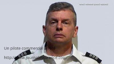 Un pilote commercial arrêté