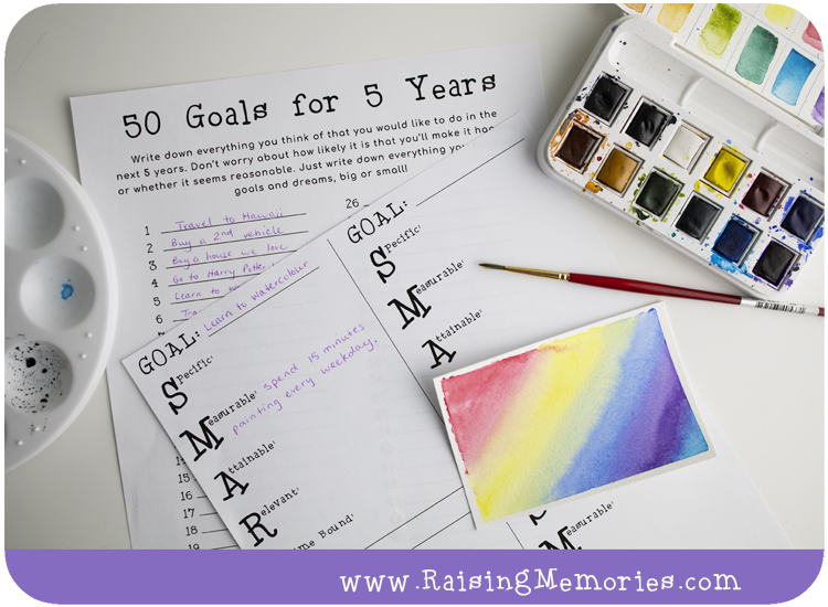 Teaching Goal Setting as a Family