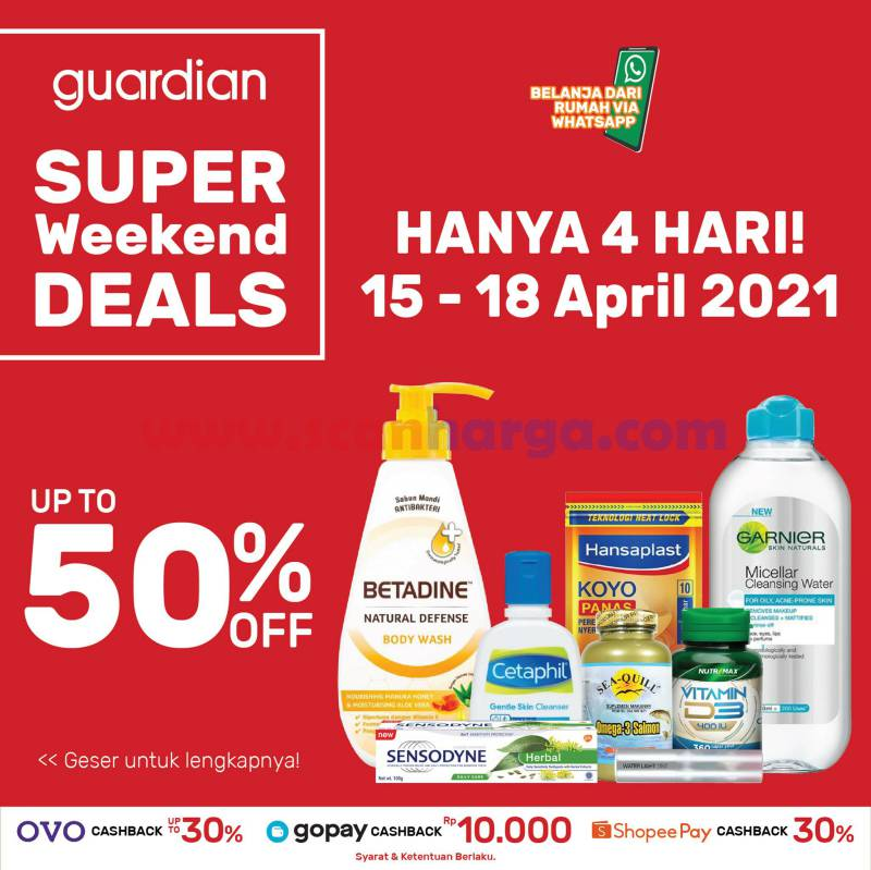 Promo Guardian Weekend Super Deals 15 - 18 April 2021