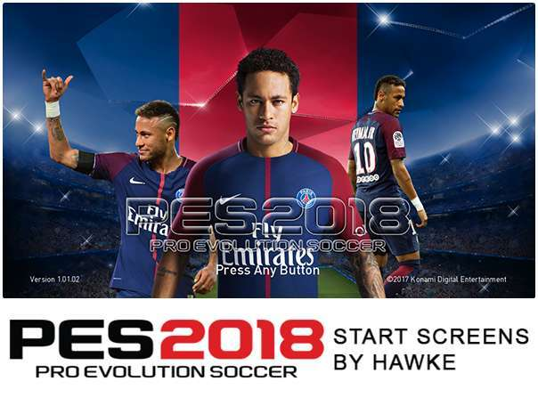 Custom Start Screen Pack PES 2018