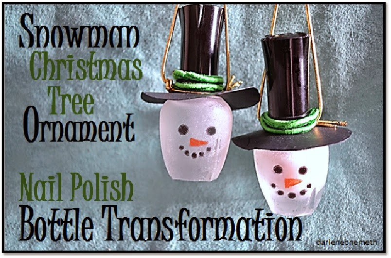 Ornaments made from old Nail Polish Bottles
