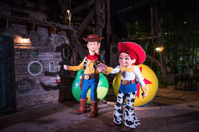 Disney World H20 Glow Nights Woody and Jessie