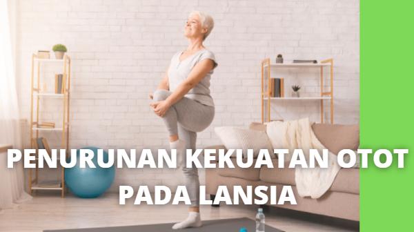 Apa Itu Penurunan Kekuatan Otot Pada Lansia Definisi Penurunan Kekuatan Otot Penurunan fungsi yang nyata pada lansia adalah penurunan massa otot atau atropi. Penurunan massa otot ini merupakan faktor penting yang mengakibatkan penurunan kekuatan otot dan daya tahan otot.   Kekuatan otot adalah kemampuan otot atau kelompok otot untuk menghasilkan gaya maksimal. Penurunan kekuatan otot mengganggu keseimbangan tubuh dan aktivitas berjalan dan berhubungan dengan peningkatan risiko jatuh.   Penurunan fungsional dan penurunan kekuatan otot akan mengakibatkan terjadinya penurunan kemampuan mempertahankan keseimbangan postural atau keseimbangan tubuh.  Etiologi Penurunan Kekuatan Otot Lansia mengalami kemunduran atau perubahan morfologis pada otot yang menyebabkan perubahan fungsional otot, yaitu terjadi penurunan kekuatan dan kontraksi otot.   Ada beberapa hal yang dapat menyebabkan penurunan kekuatan otot, diantaranya adalah efek penuaan, kecelakaan, dan faktor penyakit.   Namun dari ketiga hal ini, faktor penuaan adalah faktor utama penyebab penurunan kekuatan otot. Kurangnya aktivitas, atrofi otot, miopati otot, dan neuropati juga dapat menyebabkan penurunan kekuatan otot pada lansia.  Manifestasi Klinis Penurunan Kekuatan Otot Penurunan kekuatan otot menyebabkan gangguan keseimbangan postural dan mengakibatkan lansia mudah terjatuh.   Penelitian menunjukkan bahwa kelemahan otot abduktor sendi panggul dapat mengurangi kemampuan mempertahankan keseimbangan berdiri pada satu tungkai dan pemulihan gangguan postural.  Kelemahan otot dorsal fleksor sendir pergelangan kaki dan ekstensor sendi lutut berhubungan erat dengan risiko jatuh dan penurunan kekuatan otot terbesar pada otot reaksi cepat.   Nah itu dia bahasan dari apa itu penurunan kekuatan otot pada lansia. Melalui bahasan di atas bisa diketahui mengenai definisi, etiologi, dan manifestasi klinis pada penurunan kekuatan otot pada lansia. Mungkin hanya itu yang bisa disampaikan di dalam artikel ini, mohon maaf bila ter