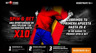 betstars seguro 25 euros Spin & Bet y apuesta 5 y 20 bono Eurocopa 2016
