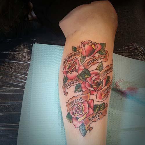 calf name tattoo baldır isim dövmesi
